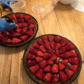 strawberry & chocolate orion cake