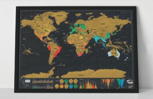mapa mundis para rascar los lugares visitados