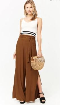 brown long trousers
