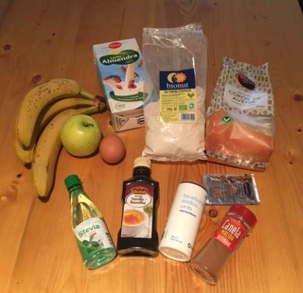 ingredientes banana cake