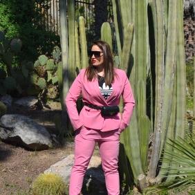 Bershka pink suit 2