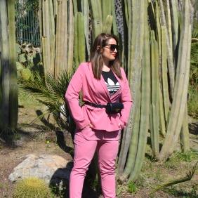 Bershka pink suit 1
