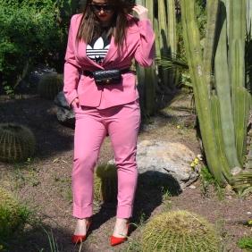 Bershka pink suit 3