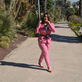 Bershka pink suit 5