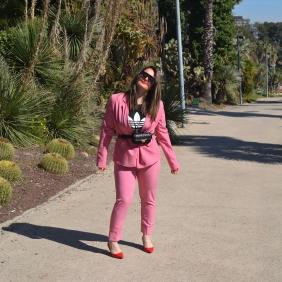 Bershka pink suit 4